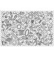 beach doodle set vector image vector image