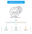 big chart data world infographic business flow vector image