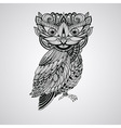 Black Owl Tattoo Style vector image vector image