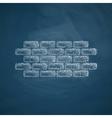 brick icon vector image vector image