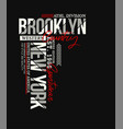 brooklyn sport typography design vector image vector image