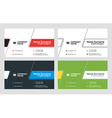 Buisness Card Template Set vector image