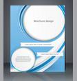 business brochure blue design magazine cover vector image