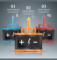 business infographics battery icon vector image