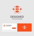 business logo template for algorithm design vector image vector image