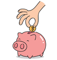 cartoon piggy bank vector image vector image
