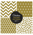 christmas golden patterns set 1 vector image