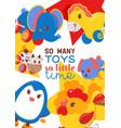 clockwork bright mechanic children tin toys poster vector image vector image