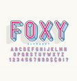 condensed display font popart design alphabet vector image vector image