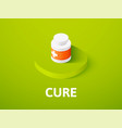 cure isometric icon isolated on color background vector image vector image