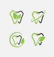 dental logo set vector image vector image
