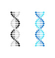 dna icon chromosome genetics gene molecule vector image