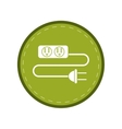 electric extension cord cable and plug green vector image vector image