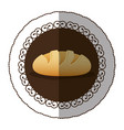 emblem color nomal bread icon vector image vector image