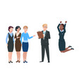 employer choose worker man recruit from crowd vector image vector image