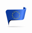 european union flag map pointer layout vector image