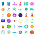 exploration icons set cartoon style vector image vector image