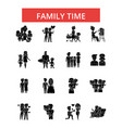 family time thin line icons linear vector image vector image