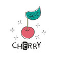 fashion funny slogan with cherry patch for t-shirt vector image vector image