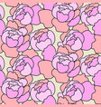 floral peony pink pattern in hand drawn vector image vector image