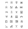 furniture line icons 4 vector image
