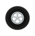 gray car disk with large black tire automobile vector image