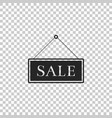 hanging sign with text sale icon isolated vector image vector image