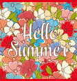 hello summer lettering best for banner vector image