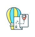 hot air balloon tourism rgb color icon vector image