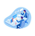 isometric business people characters data vector image vector image