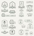Label And Ribbon template design set line style vector image vector image