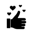 like glyph icon vector image vector image