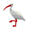 low poly ibis vector image