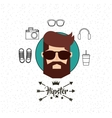male avatar with hipster style vector image