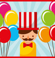 man circus balloons carnival fun fair festival vector image vector image