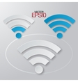Modern flat minimalistic design wifi with vector image