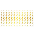 musical note gold halftone matrix vector image vector image