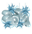 new year or christmas 2014 decorations vector image
