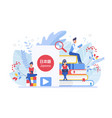 online language courses flat vector image
