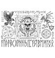 ouija magic spiritual board design with evil face vector image