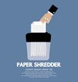 Paper Shredder Machine vector image