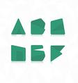 Polygonal font flat font vector image