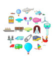portage icons set cartoon style vector image vector image