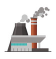 power plant industrial factory building or vector image vector image