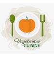 pumpkin vegetarian cuisine organic food plate and vector image vector image