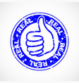 real thumbs up stamp vector image vector image