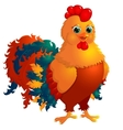 Red- rooster vector image vector image