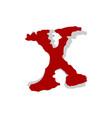 red x letter logo template design eps 10 vector image