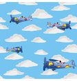 retro airplanes flying vector image