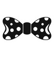 round circle bow tie icon simple style vector image vector image